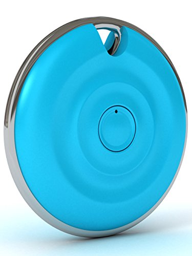 Mooni Premium Bluetooth Selfie Remote Control Shutter for All iPhones, Samsung Galaxy, Most Android Phones, iPads, Tablets, iPods - 30ft Range, Get Wider Angles - No Apps, Downloads or Charging (Aqua)