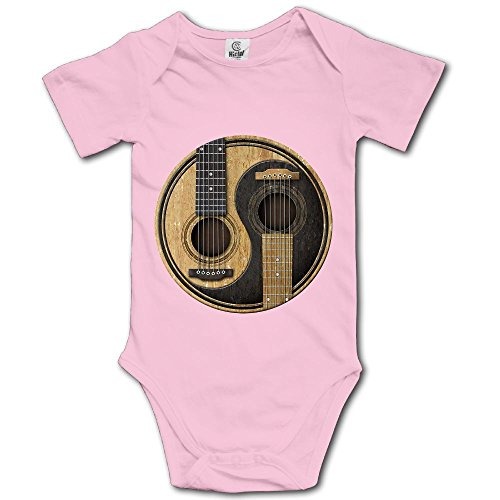 Price comparison product image Old and Worn Acoustic Guitars Yin Yang Printed Baby Boys Short Sleeve Bodysuit Outfits Clothes