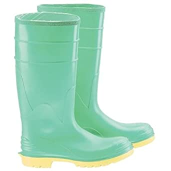 Bata Shoe 87012-13 Onguard Industries Size 13 Hazmax Green 16 PVC Knee Boots With Ultragrip Sipe Outsole Steel Toe And Removable Insole