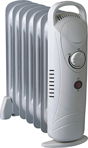 Pistol Mini Portable Oil Heater 700 Watt 120V-60Hz 7-Fins Heater Mini Oil Oil Filled Heaters Portable Watt