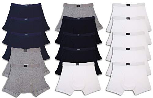 Andrew Scott Men's Bonus Pack of 12 Boxer Brief Trunks (2XL 44-46, Bonus Pack of 15-Black/White/Navy/Grey) by Andrew Scott (Image #2)