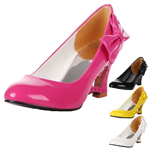 Nonbrand Women's Wedge Heel Synthetic Court Shoes Pink yZq47