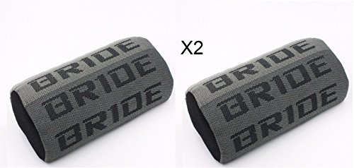 2PC JDM Bride Racing Gradation For Car Seat Neck Rest Headrest Pillow Fabric bucket Seat Material