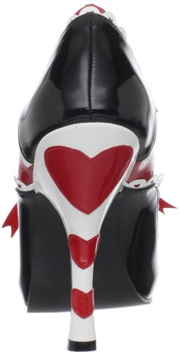 Funtasma QUEEN-03 Blk-Red-Wht Pat Size UK 3 EU 36