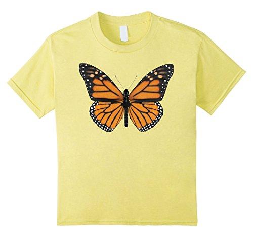 Kids Monarch Butterfly T-Shirt 6 Lemon