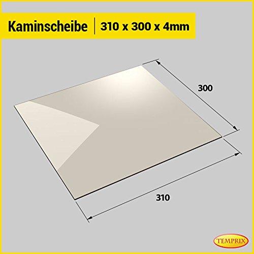 Kaminglas und Ofenglas 310 x 300 x 4 mm   Temperaturbeständig bis 800° C   » Wunschmaße auf Anfrage «   Markenqualität in Erstausrüsterqualität
