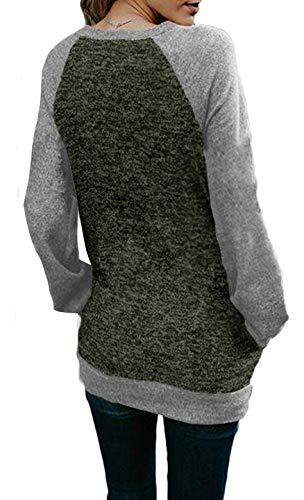 702df6afd36 Jual Sipaya Women s Long Sleeve T Shirt Crew Neck Pocket Tee S-XL ...