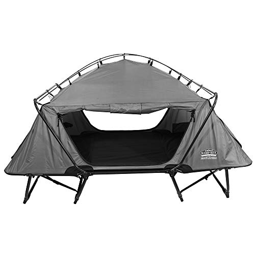 Kamp-Rite 2 Person Folding Off The Ground Camping Bed Double Tent Cot, Gray ()
