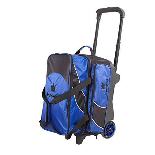 Brunswick Edge Double Roller Bowling Bag, Blue