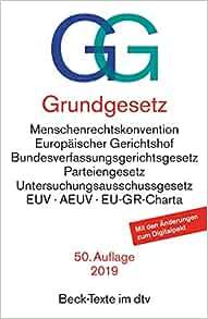 Grundgesetz Beck Texte Im Dtv German Edition Germany 9783406744358 Amazon Com Books