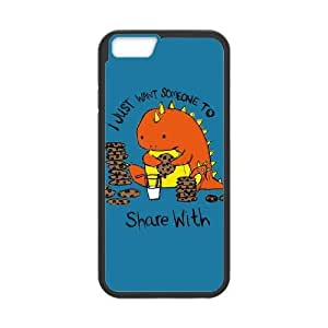 iPhone 6 4.7 Inch Cell Phone Case Black The Cookie Dinosaur Qykxf