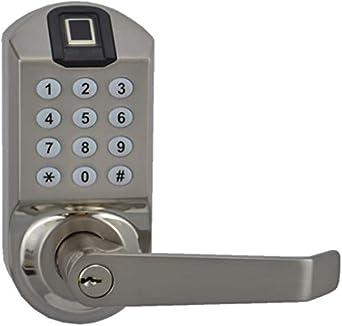SCYAN X7SC Cerradura de puerta con teclado sin llave con escáner de huellas dactilares