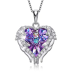 Pendant With Embellished Purple With Sterling Silver Crystal from Swarovski