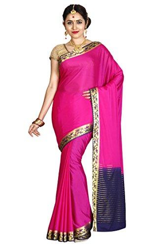 arars Crepe Silk Saree Mysore Silk Saree ( CRP02 MAGENTA )