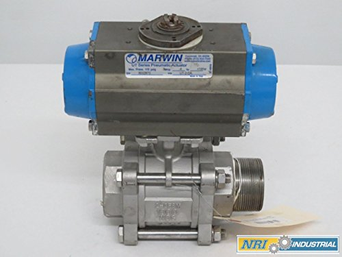 MARWIN 8733FTRS-20A PNEUMATIC 1000 STAINLESS THREADED 2IN NPT BALL VALVE B305550