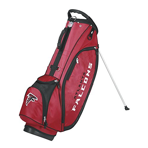 Wilson NFL Atlanta Falcons Carry Golf Bag, Red/Black, One Size