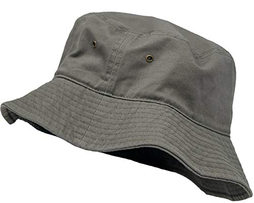 - SH-220-33-SM Vintage Fitted Safari Bucket Hat: Solid Olive (S/M)
