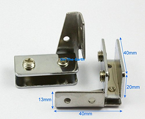 GohEun 4 Pieces Cabinet Glass Pivot Door Hinge Clamps For 5-8mm Glass Door - Four Light Ornate Cast