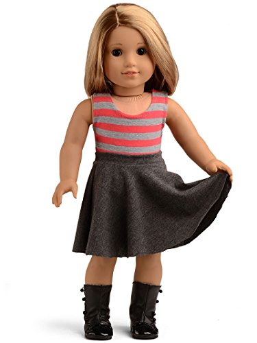 Sweet Dolly Striped Tank Top and Skirt for 18-Inch American
