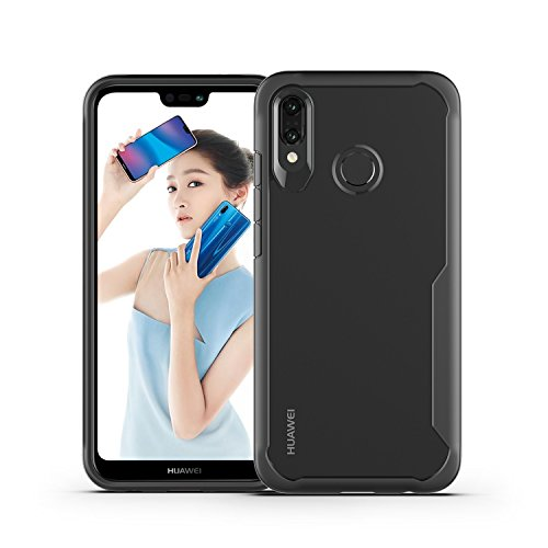 - Solid and Transparent for Huawei P20 Lite Case,Personalized Slim Clear Shockproof Armor Shield Soft TPU Bumper + Hard PC Transparent Back Case Cover for Huawei P20 Lite Phone CASE (Color : Black)