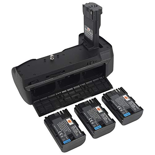 DSTE Blackmagic Design Pocket Cinema Camera 6K/4K Battery Grip with 3pcs LP-E6 Battery