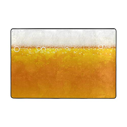Play Mat for Kids - Background of Beer with Foam,Indooor Outdoor Decorative Funny Printed Area Rug Carpet 3'x2' - Baby Mats for Playing/Crawling