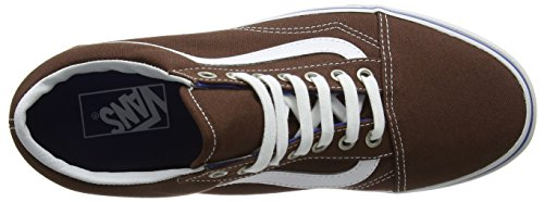 Unisex True Scarpe Basse Adulto White Old Chestnut Marrone Skool Vans da Skater wqY4qHBx