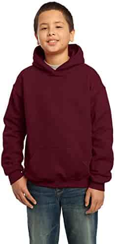 Gildan Heavy Blend Youth 8 oz., 50/50 Hood, XS, GARNET