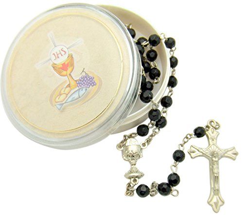 Boys First Holy Communion Rosary with Chalice Gift Case Box