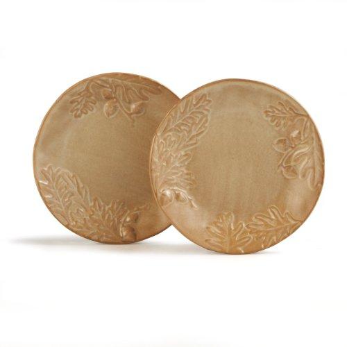 Caffco International Biltmore Inspirations Collection Olmsted Oak Salad Plates, Set of 2 (Harvest Round Serving Plate)