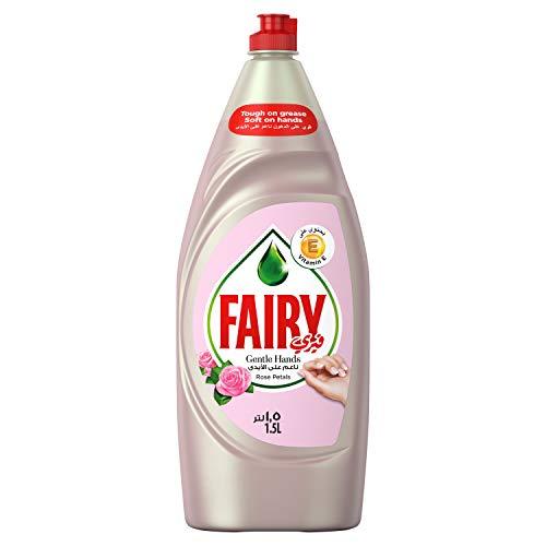 Fairy Gentle Hands Rose Petals Dishwash Liquid, 1.5 liter