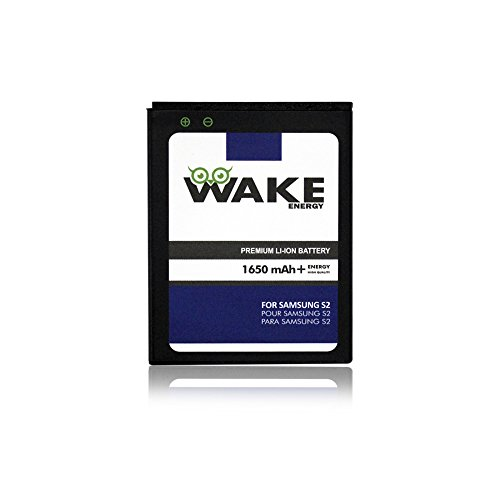S2 Battery, WAKE 1650 mAh Replacement Battery for Samsung Galaxy S2 (i9100 Galaxy S IIi, 9100 Galaxy S2) WAKE Brand