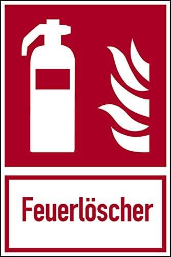 """Folie selbstklebend Brandschutzzeichen, Kombischild""""Feuerlöscher"""", langnachleuchtend, 300x200mm"""