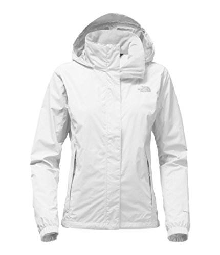 The North Face Women's Resolve 2 Jacket TNF White and High Rise Grey - M (Ski Womens Jacket)