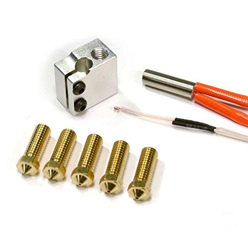 [Gulfcoast Robotics] RepRap 3D Printer High Print Speed Print Pack 1.75mm Filament + 5 nozzles, 24V Heater and Thermistor. by Gulfcoast Robotics