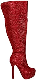 Amazon.com: Red - Over-the-Knee / Boots: Clothing Shoes &amp Jewelry