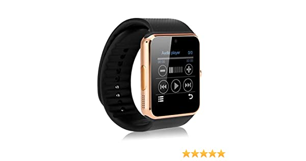 Smart Watch Smartwatch GT08 Bluetooth Reloj Móvil gsm SIM para LG G3, G4, G5, G6, X Power 2, k 2017, K3, K4, K5, K7, K8, K10 Q6 Q8 Color Gold