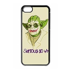 iPhone 5c Cell Phone Case Black Star Wars Yoda Sgndx