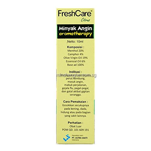 Fresh Care Medicated Oil Aromatherapy - Citrus, 10 Ml (Pack of 12)