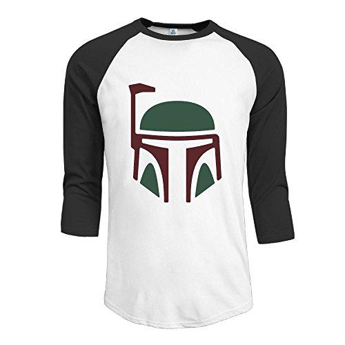 JAMIENOR Boba Fett Men 3/4 Sleeve Raglan Shirts Jersey Tshirt Casual