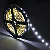 LED Light Strip Kit 300 Led Units SMD 3528Leds 16.4ft/5m 12V Flexible LED Strip Lights Daylight White Under Cabinet Non Waterproof, LED Ribbon For Home/Kitchen Lighting Strips Powe