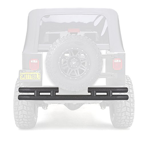 - Smittybilt RB01-T Textured Black Rear Tube Bumper for Jeep YJ/TJ/LJ