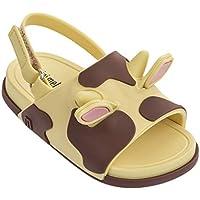 Mini Melissa Beach Slide Sandal II (Amarela/Marrom)