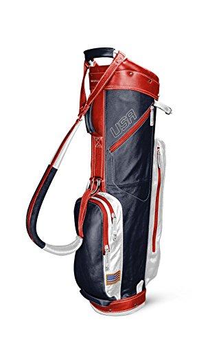 Cart Mountain Sun (Sun Mountain 2016 Leather Cart Bag G621344 (Navy/White/Red))