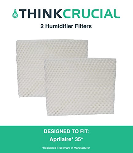 2 Premium Aprilaire 35 Paper Wick Humidifier Water Pad Filter, Fits 350, 360, 560, 560A, 568, 600, 700, 760, 760A, & 768 (35), by Think Crucial