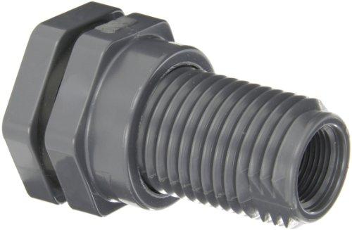 (Hayward BFA1007CFS Series BFA Standard Flange Bulkhead Fitting, Socket x Threaded End, PVC with FPM Seals, 3/4