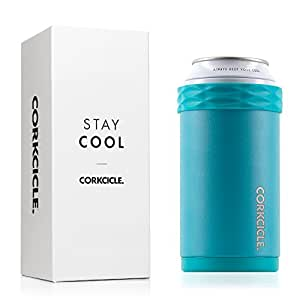 Corkcicle Arctican-Stainless Steel Insulated Can & Bottle Coozie, Waterman Biscay Bay