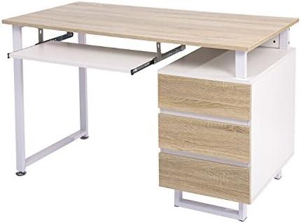 Merax diseño Moderno Simple Mesa de Escritorio para Ordenador ...