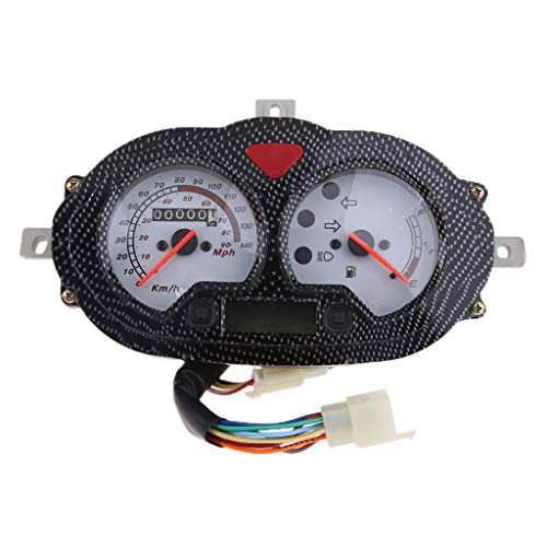 (Flameer 12V 7 Pin Speedometer Gas Gauge Assembly for CPI Popcorn,Hussar KEEWAY Focus)