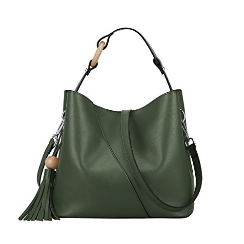 Green Leather Handbag - 7